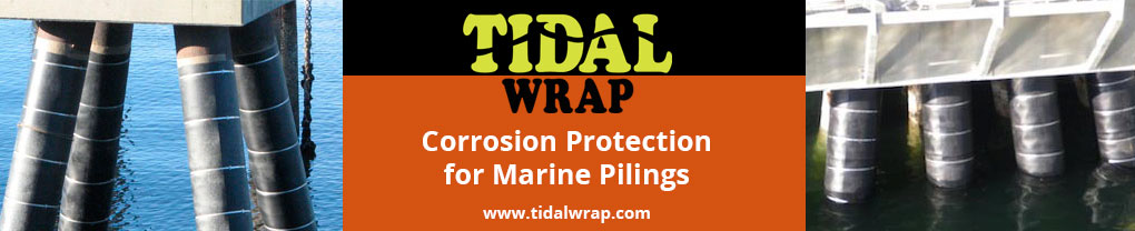 Tidal Wrap provides corrosion protection for marine pilings